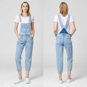 Blank NYC Acid Trip Raw Hem Distressed Overalls 26